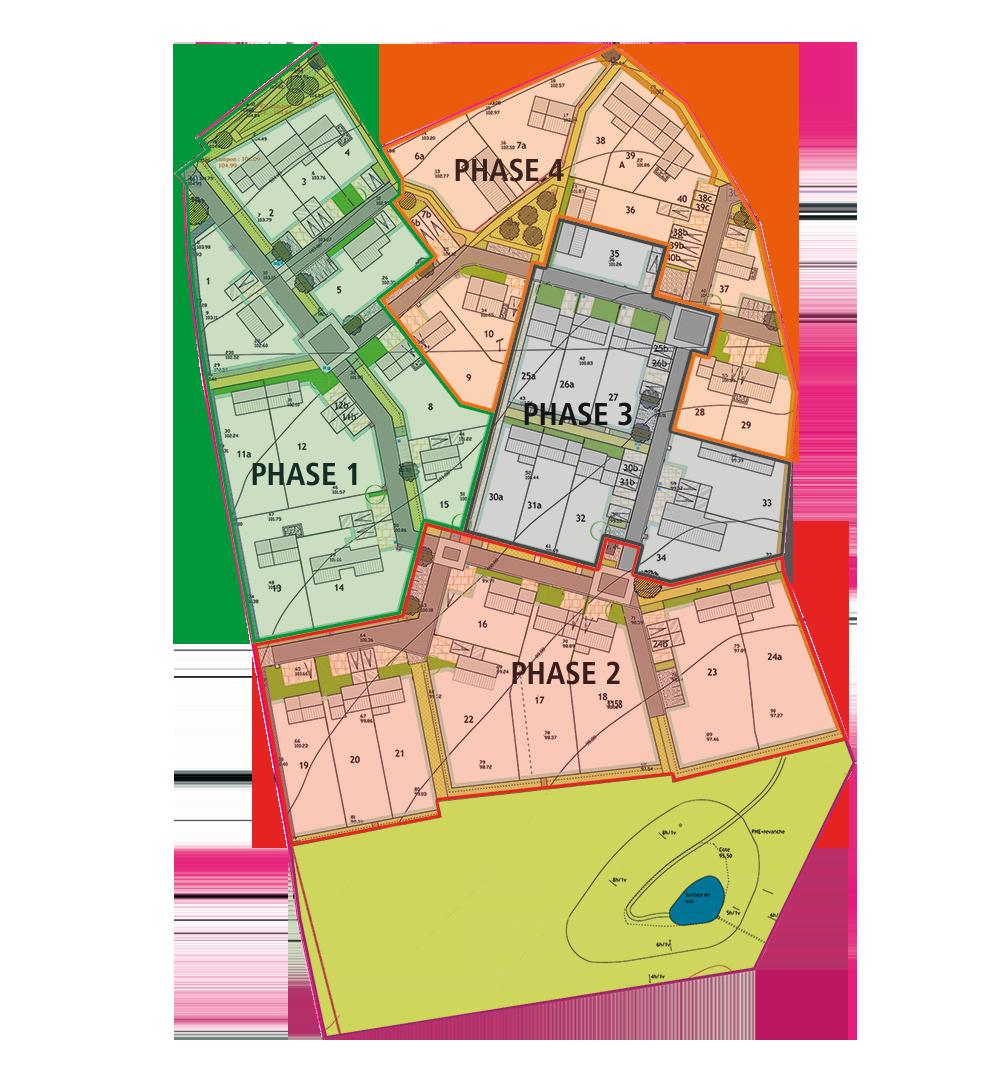 plan parcelle de l\'éco quartier des fonds gautiers